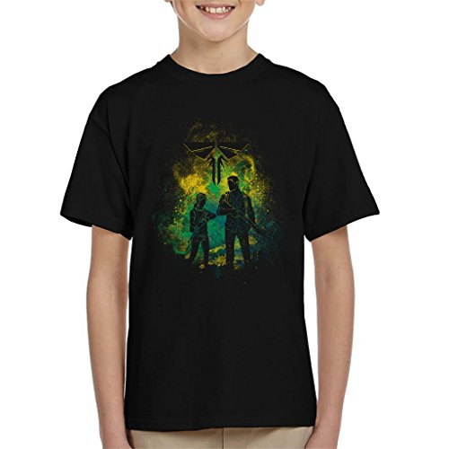 The Last Of Us Joel And Ellie Outline Kid's T-Shirt (Of Clicker Last The Us)