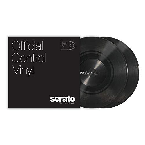 Serato Control Vinyl - Coppia di adesivi in vinile, 25,4 cm/10', Nero
