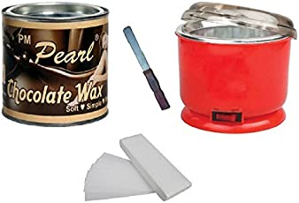 Generic Choclate Wax with 90 Strips Pack (600g, cho-strip-knife-heat)