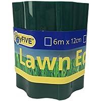 Hyfive - Frontera - Jardín de césped y remolacha parche Edge - 15cm x 6m - Verde
