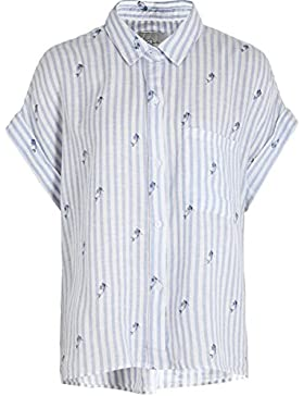 Rails Mujeres sirena de rayas camisa de whitney Azul