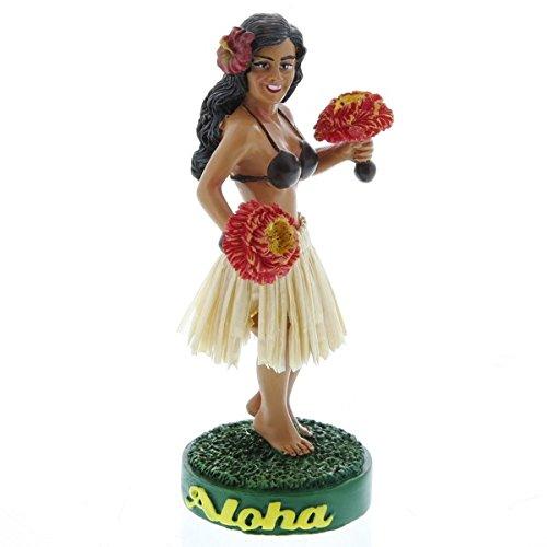 Hawaiian-Uli-Uli-Hula-Girl-mueca-de-salpicadero-en-miniatura