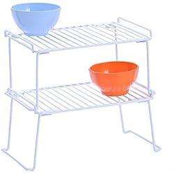 Armario organizador para cocina, vitrina de rejilla de almacenamiento. Estante con 2unidades.