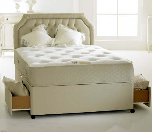 Happy beds divan bed set clifton royal 2 drawers pocket for Double divan bed set