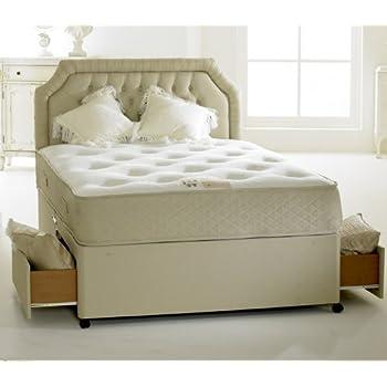 happy beds divan bed set clifton royal 2 drawers pocket sprung orthopaedic mattress 4u00276