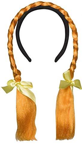 Piccoli monelli parrucca pippi calzelunghe donna per carnevale parrucca a cerchietto con trecce arancioni