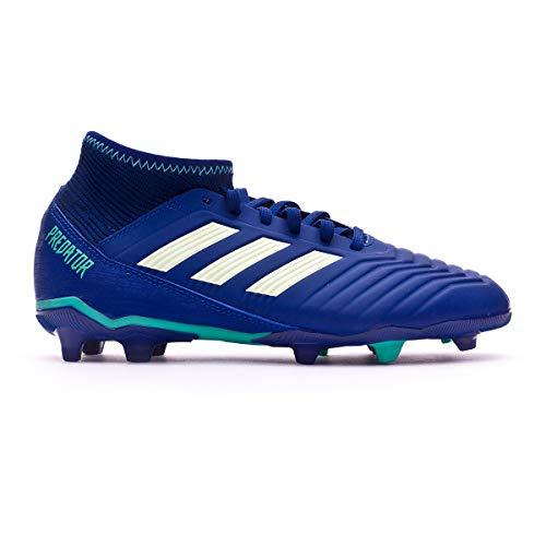 Adidas predator 18.3fg j pavimento duro bambino 30scarpe da calcio–scarpe da calcio, pavimento duro, bambino, lui, suola con tasselli, blu, bianco, monótono