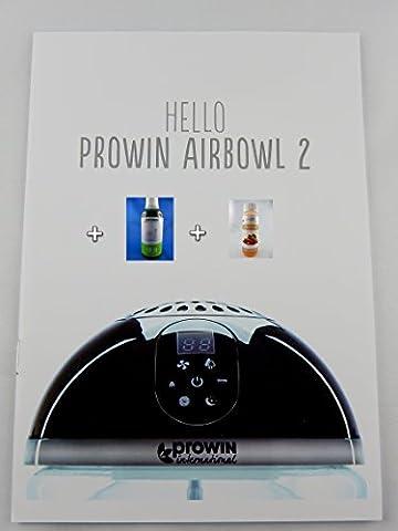 proWIN AIR BOWL 2 - LUFTREINIGER DER NEUEN GENERATION MIT UV-ENTKEIMUNG FÜR STERILES WASSER (AIRBOWL 2 + pure AIR 500ml + Maxxi Clean