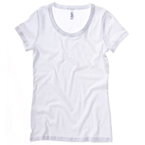Bella Canvas - T-shirt - Femme Large Blanc - Blanc