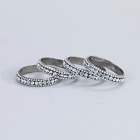 Elegance Silver Napkin Rings With Chatons