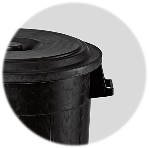 gartentonne abfalltonne aus kunststoff in schwarz mit. Black Bedroom Furniture Sets. Home Design Ideas