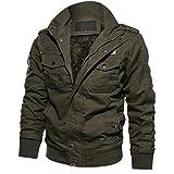 TIFIY Wintermantel Jacke Herbst Militär Parka Sweatshirt Sweat Outwear Draussen Strickjacke Sport Umhang Solide Tunika Pullover M-6XL (T_d,EU 42/CN L)