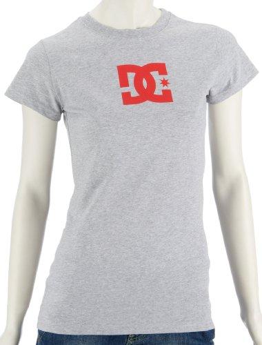 DC Star T-shirt pour femme femme SS Women's S/S Fine Jersey, bajabl/WHT Gris - HEATHER GREY/PURPLE WINE