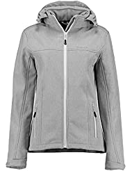 Kjelvik Mujer Kari Bonded Softshell chaqueta, mujer, color Ashgrey, tamaño talla 44