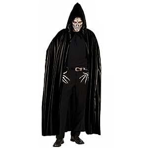 Vampir Umhang Cape schwarz mit Kapuze Vampirumhang Vampircape Fasching Karneval Halloween Dracula