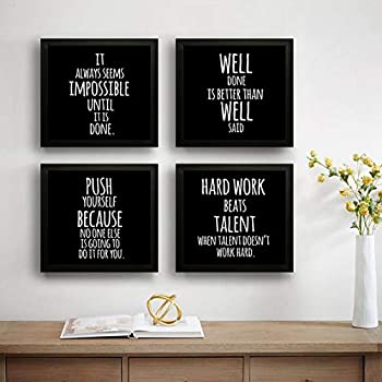 SAF Motivational Set of 4 UV Textured Painting (19 x 19 Inches, SAF_SET4_27)