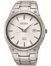 SEIKO  SNE339P1 - Reloj de automático para hombre, con correa de acero inoxidable, color plateado