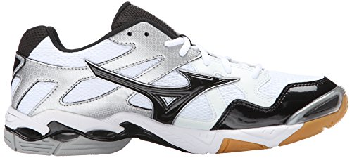 Mizuno Wave Bolt 4 Synthétique Baskets White-Black-Silver