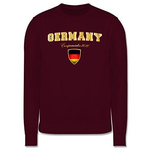 EM 2016 - Frankreich - Germany Europameister 2016 - Herren Premium Pullover Burgundrot