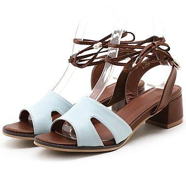 pu Rosa büro Beige Kleid Weiß Damen Blue schwarz blockabsatz andere Lvyuan Blau Lässig sandalen wagXHxnvq