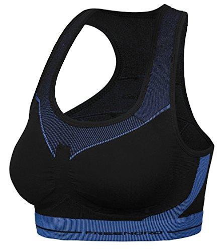 FITTECH ACTIVE Brassière De Sport Femme - Fitness Jogging Yoga Noir/Rose