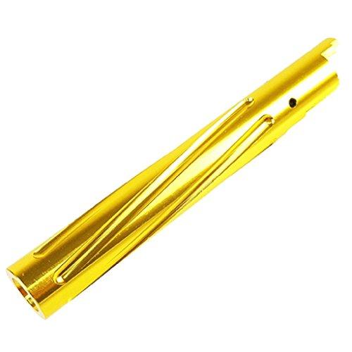 Airsoft Softair Ausrüstung 5KU Non-Recoil Spiral Außen Outer Barrel für Hi-Capa 5.1 GBB Gold-