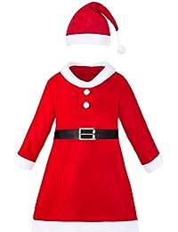shafier Disfraz Vestido de Papá Noel para niña o Chica con Vestido b948222bfd8