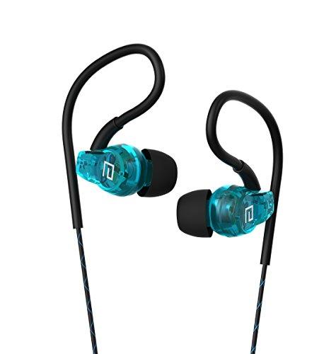 Langsdom® SP80 Auriculares In-Ear Deportivos Impermeables con Control y Micrófono Compatibles con Dispositivos Apple, Samsung, Tablets, Android, Videojuegos (Azul)