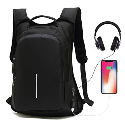 0ac161e9f7 Anti-Theft Smart Travel Backpack with USB Charging Port   Headphone  Hole