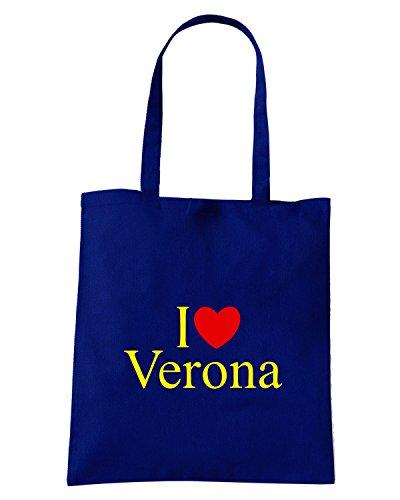 T-Shirtshock - Borsa Shopping TLOVE0083 i love heart verona kids Blu Navy