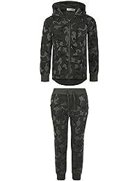 Kids Fleece Jungle Tracksuit Camo Zip Hoodie Joggers Bottoms Full Suit 2-13 Year
