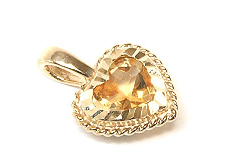 9ct-gold-citrine-diamond-cut-heart-pendant-without-chain