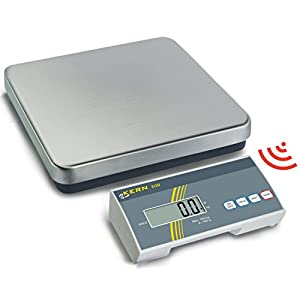 Funk-Plattformwaage für maximale Flexibilität [Kern EOB150K-2F] Präzision bis 50 g, Wägebereich max. 150 kg