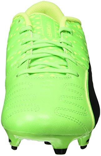 Puma Evopower Vigor 3 Lth Fg, Chaussures de Football Homme Vert (Green Gecko-puma Black-safety Yellow 01)