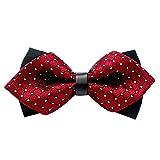 unisexe cravate - TOOGOO(R) unisexe noeud papillon cravate - noeud papillon reglable fete du parti -Fashion de mariage arc de fantaisie cravate (Rouge)