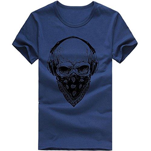 609d580e867f T-Shirts,Honestyi 2018 Frühling Sommer Herren T-Shirt Totenkopf Kapitän  Captain Skull