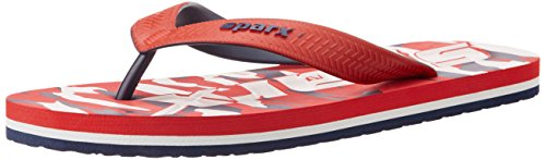 Sparx Men's Red and Blue Flip Flops Thong Sandals - 10 UK  available at amazon for Rs.259