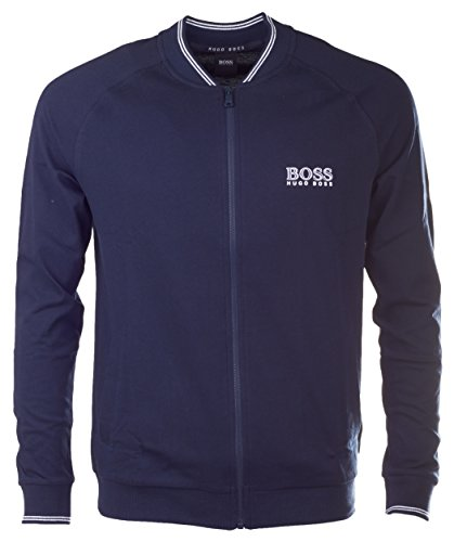 BOSS Hugo Boss Herren Trainingsjacke College Jacket Zip (L, Blau (Dark Blue 403))