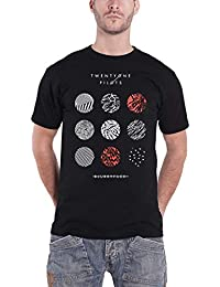 Twenty One Pilots 21 T Shirt Blurryface Circles Band Logo Official Mens Black