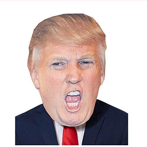 Schwarzen Gesicht Kostüm Promi - YAX Masken Lustige Realistische Latex Promi Donald Trump Putin Präsident Maske Halloween Ball Masken Party Kostüm Verkleiden Sich