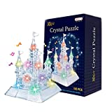 Forweilai DIY Crystal Puzzle 3D Bunte LichterSchloss Puzzle Geburtstags Geschenk Weihnachts Geschenk für Kinder Mädchen