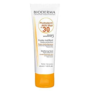 Bioderma Photoderm AKN Mat Sunscreen SPF 30 For Acne, Oil And Combination Skin, 40ml