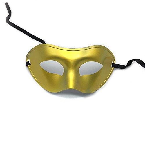 Maskerade,Männer Halbes Gesicht bemalte Lackmaske Gentleman Jazz Performance Performance Maske Maske Gold Masquerade (Für Für Männer Halloween Gesichter Bemalte)