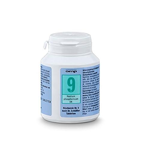Schuessler Salz Nr. 9 Natrium phosphoricum D6 - 400 Tabletten, glutenfrei