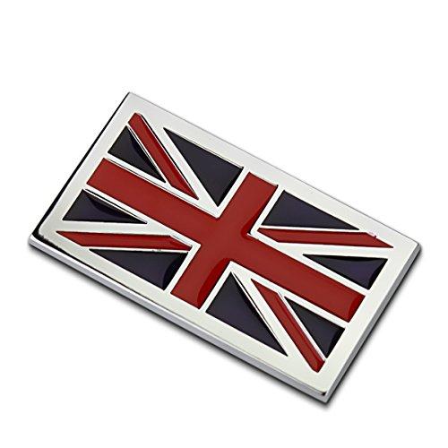Dsycar 1 Stücke 3D Metall UK Flag Auto Seitenfender Kofferraum Emblem Abzeichen Aufkleber Auto Styling (UK)
