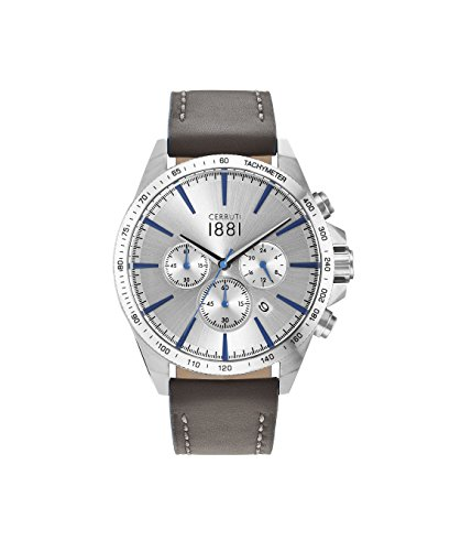 Cerruti 1881 Herren-Armbanduhr CONERO Analog Quarz Leder CRA126SN04GY