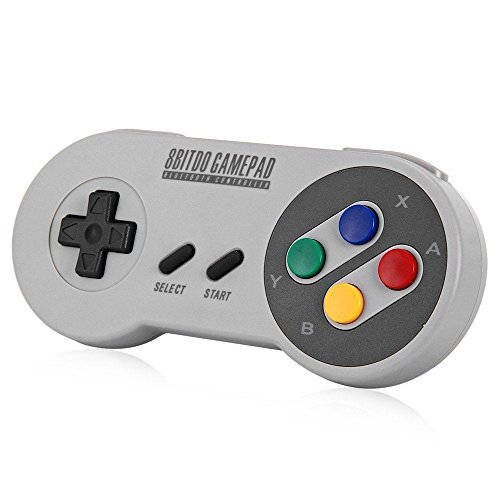 YIKESHU Gamepad 8bitdo SFC30 Controlador inalámbrico Bluetooth Doble joystick clásico para / Android / Windows
