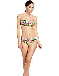 453ae5bbff Feraud 3185078-11757 Women's Paradise Pink Green Floral Removeable Straps Swimwear  Beachwear Bikini Set