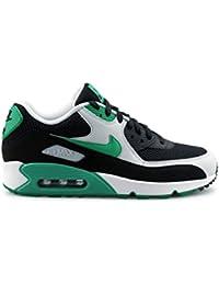 Nike Air Max 90 Essential, Zapatillas para Hombre, Negro (Black/Stadium Green/Pure Plati), 42.5 EU