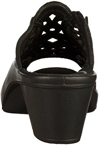 ROMIKA Womens Mokassetta 265 Leather Sandals Noir